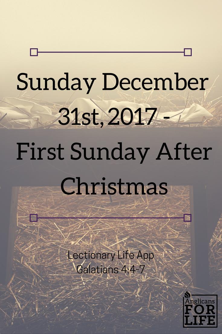 Lectionary Life App Adoption Advent teaching Dec 31, 2017