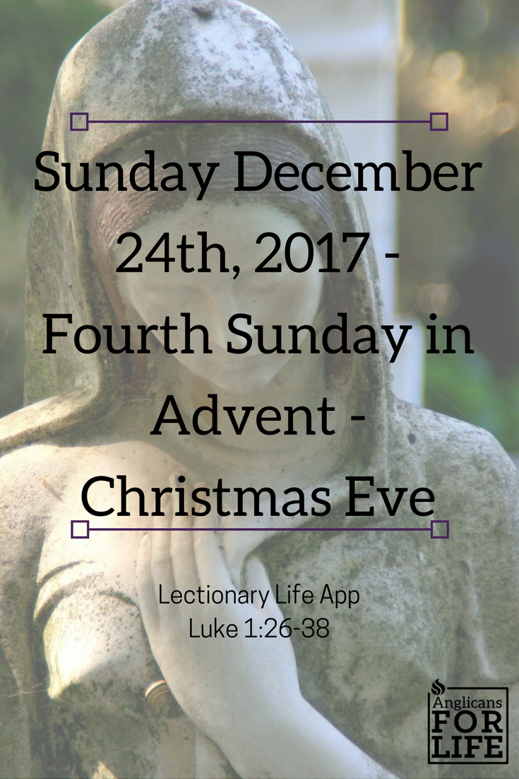 Mary Lectionary Life App Fourth Sunday in Advent 2017