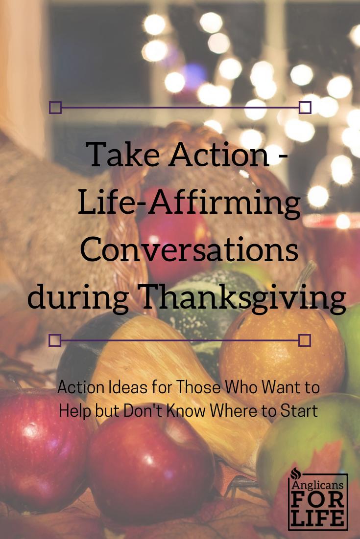 life-affirming Thanksgiving take action blog