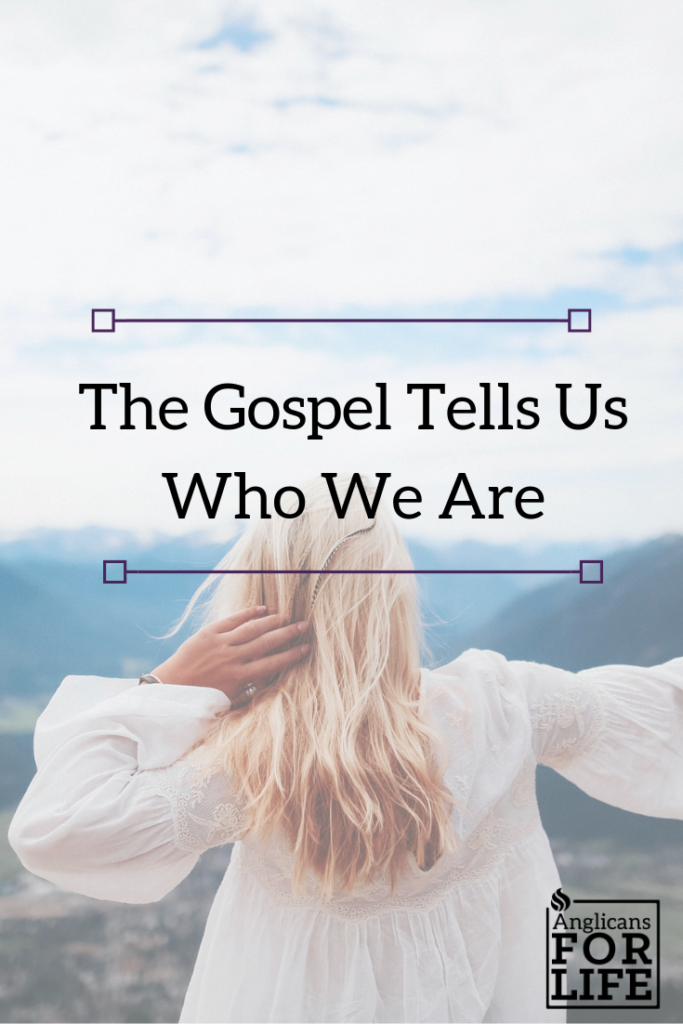 Gospel Tells Us Who We Are Blog Pin