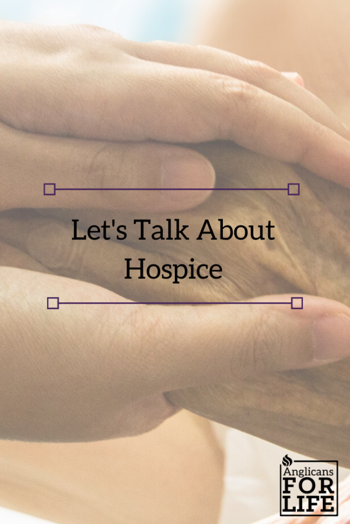 hospice let's talk about blog post pin