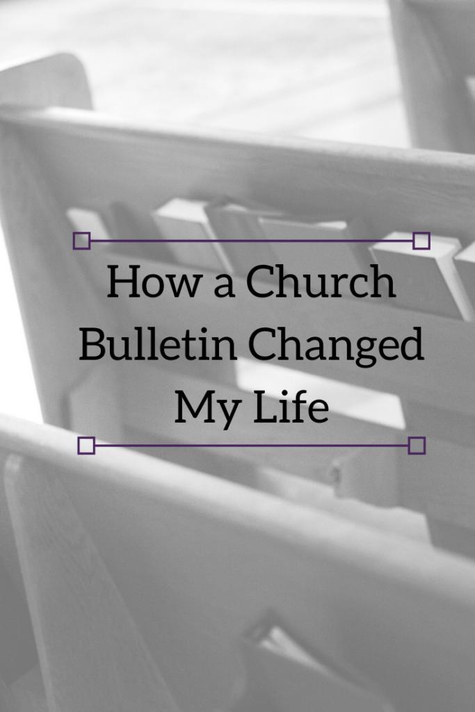 church bulletin blog pin