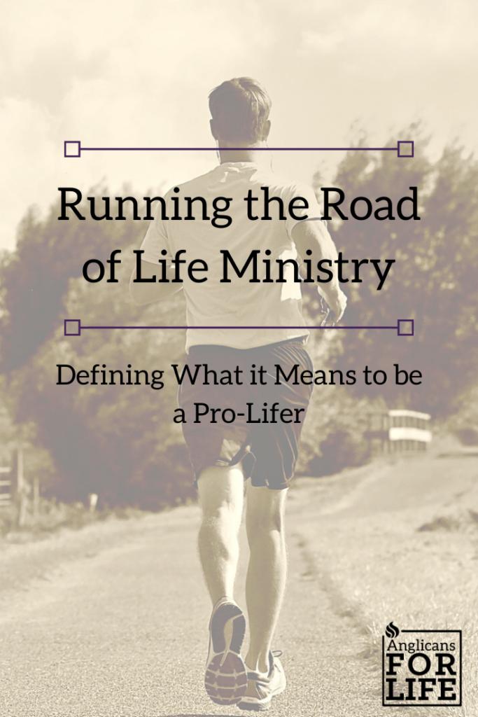 pro-lifer running  blog pin